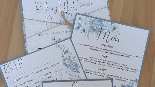 Clara Cornflower Blue Invitations