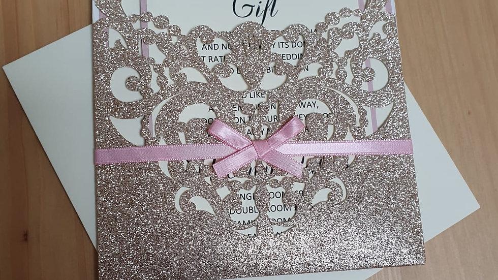 Sonya Glitter Sleeve Pocket Invitations