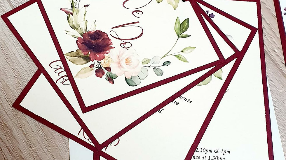 Scarlett Layered Invitations