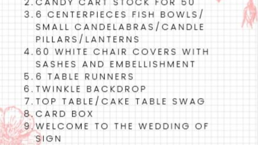 The Budget Bride Venue Styling Package