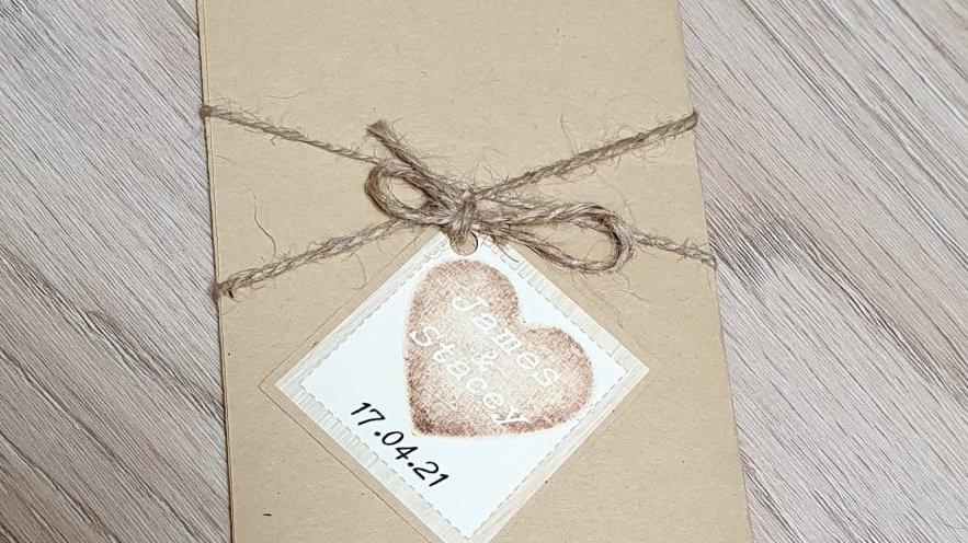 Rebecca Rustic Pocket Invitation