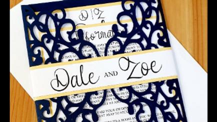 Elizabeth Lace Pocket Invitations