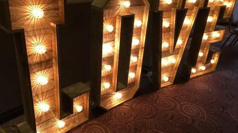 4ft Light Up LOVE Letters