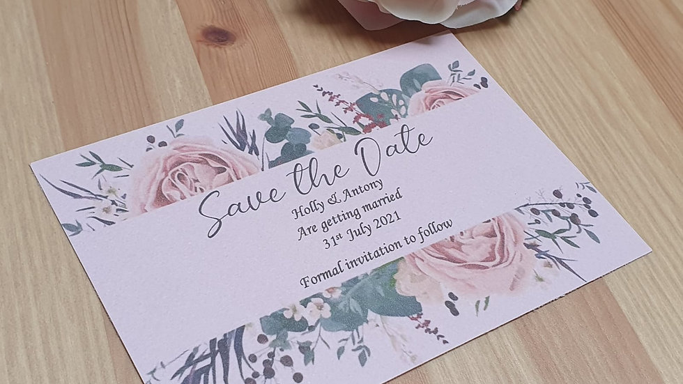Gabriella Floral Save the Date