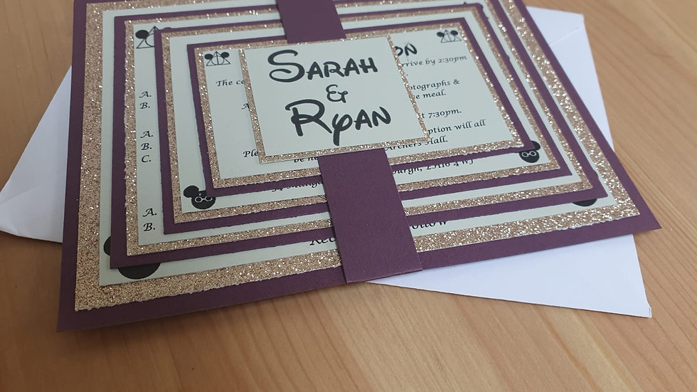 Themed Stacked Invitations