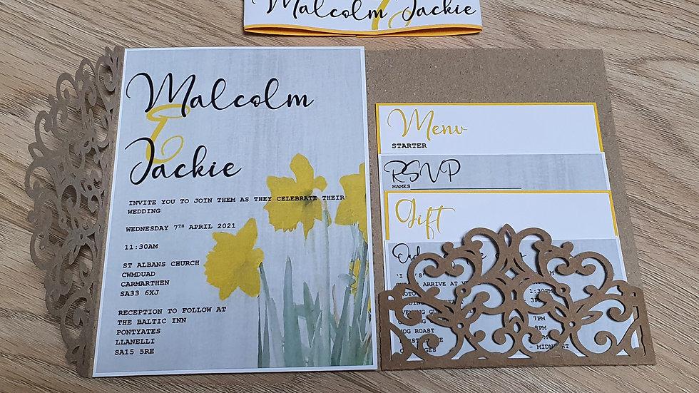 Daffodil Pocket Invitations