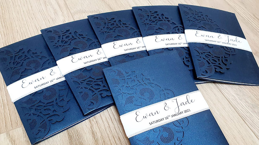 Regan Lace Pocket Invitation