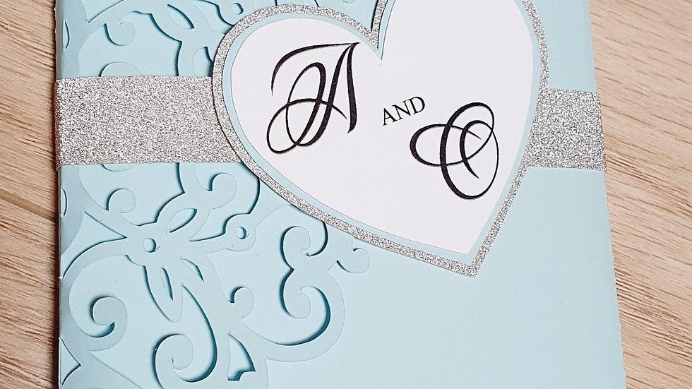 Tiffany and Silver Pocket Fold