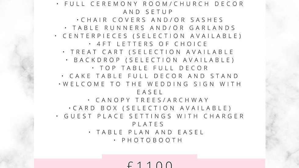 Gold Venue Dressing Package