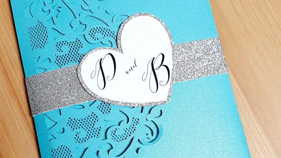 Tiffany Lace Pocket Invitation