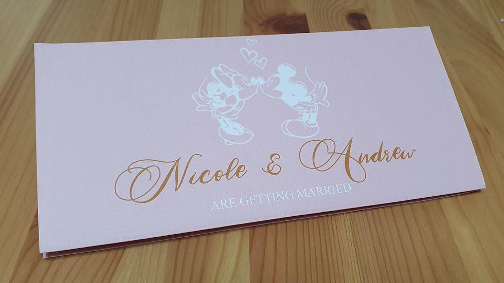 Fairy tale Concertina Invitation