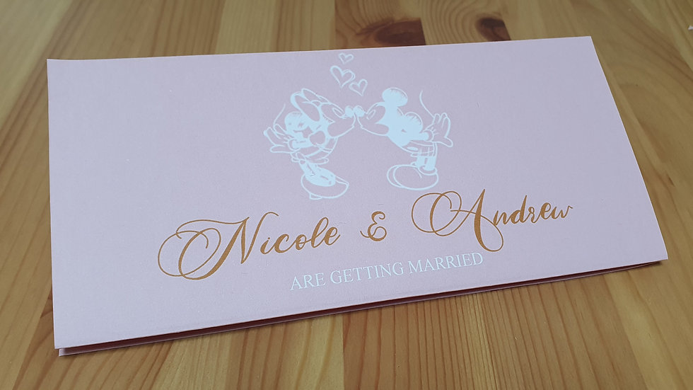 Disney Inspired Concertina Invites