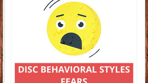 DISC - Newsletter #032  THE FOUR BEHAVIORAL STYLES - FEARS