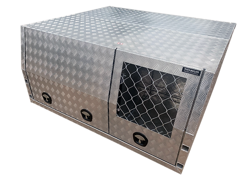 2100 Jack off Canopy with Dog Box - Checker or Flat