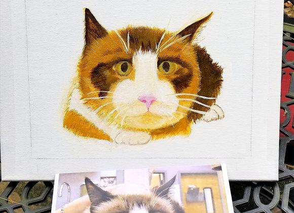 Pet Portrait Acrylic Painting 8 X 10