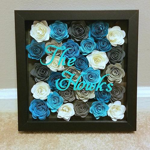 Paper Flower Shadowbox Designs