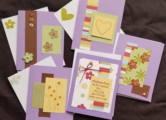 Purple Flowers & Hearts