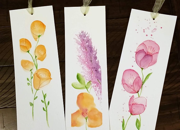 Floral Watercolor Bookmarks
