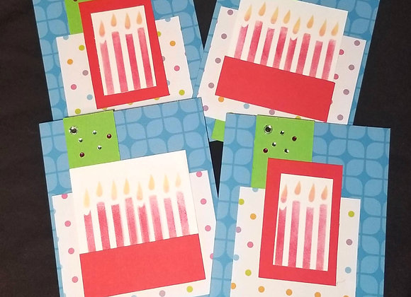 Happy Birthday Card or Invitation (Candles)