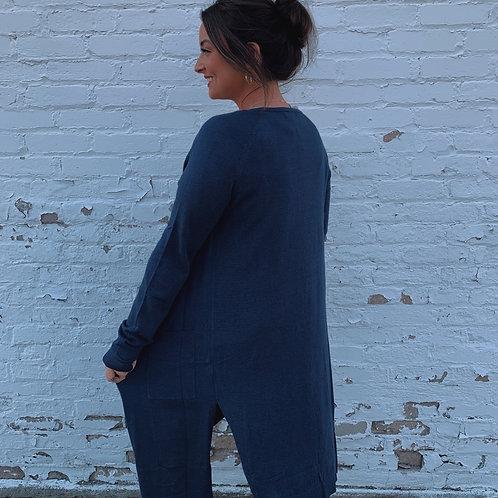 Slate Blue Cardigan