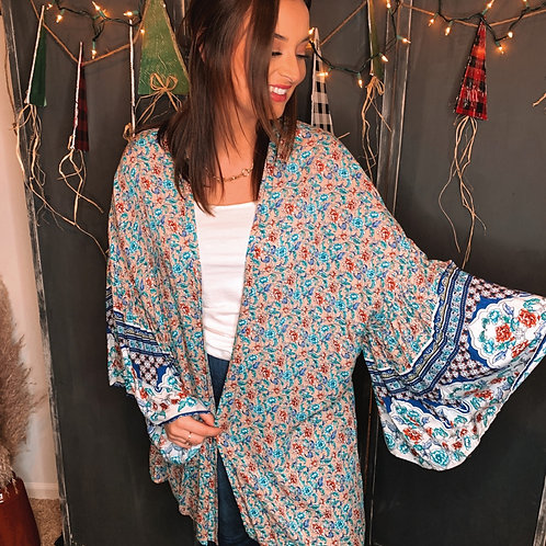 Colorful Belled Cardigan