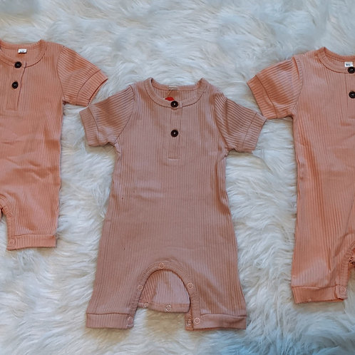 Baby Pink Solid Button