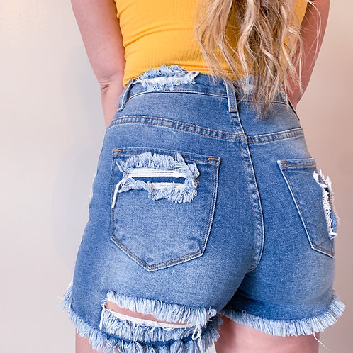 Sunny Side Distressed Shorts