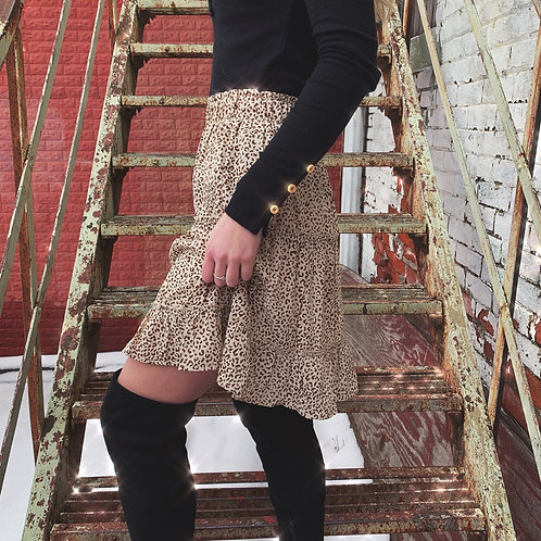 Isla Ruffled Print Skirt