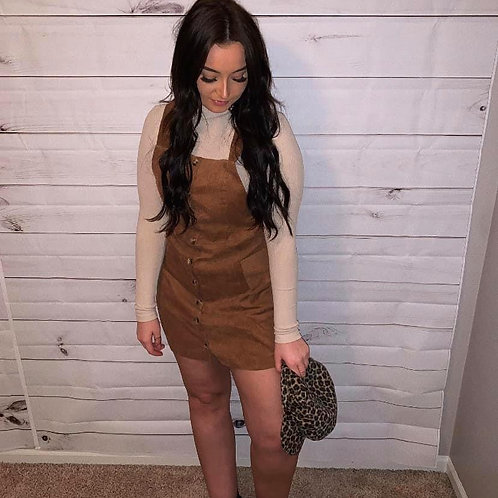 Tan Corduroy Dress
