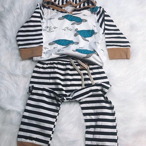 Baby Boy Turtle Print