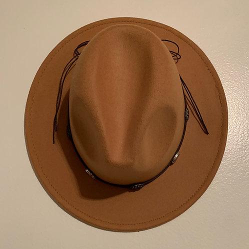 Khaki Casual Pointed Panama Hat
