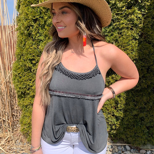 Distressed Charcoal Tank