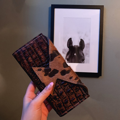 Cowhide & Leather Wallet