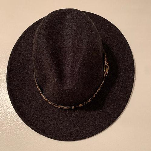 Black Leopard Panama Hat