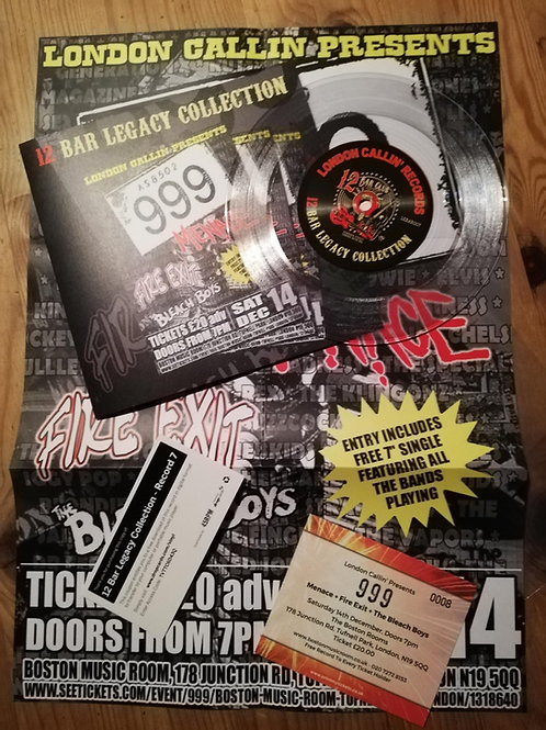 Record 7 : 999/Menace/Fire Exit / Bleach Boys Gig Pack