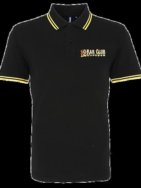 copy of 12 Bar Club Gold Tipped Polo Shirt