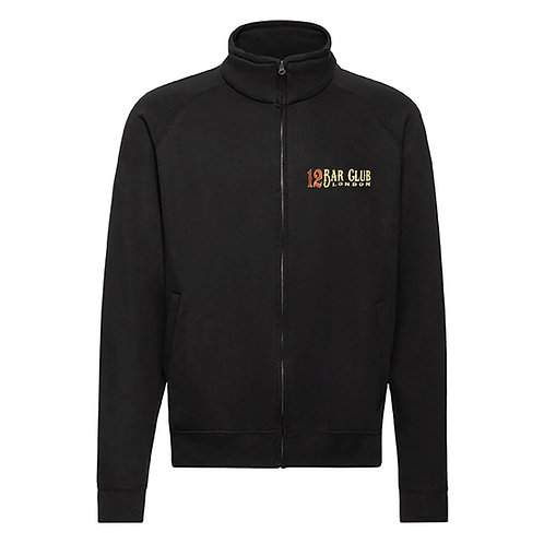 12 Bar Club Embroidered Full Zipped Sweatshirt