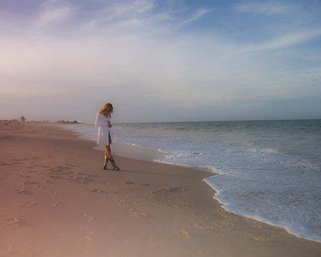 Girl on Beach 16 x 20 inch Canvas Print