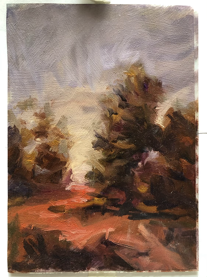 In the Pines version 2, Oil on mylar 7x5