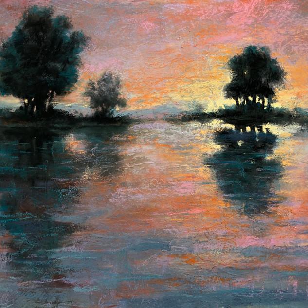 Lake Island Reflections