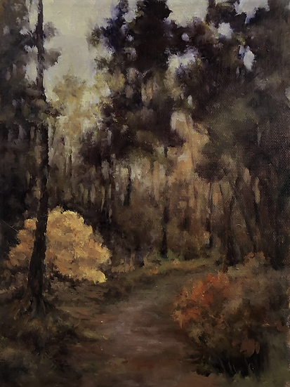 Fall Highlights, oil on canvas 12x9