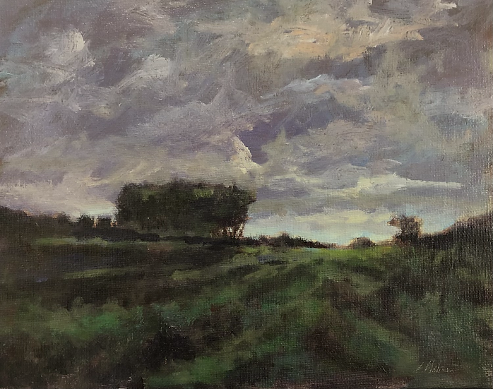 After Glow Prairie , 8x10 acrylic