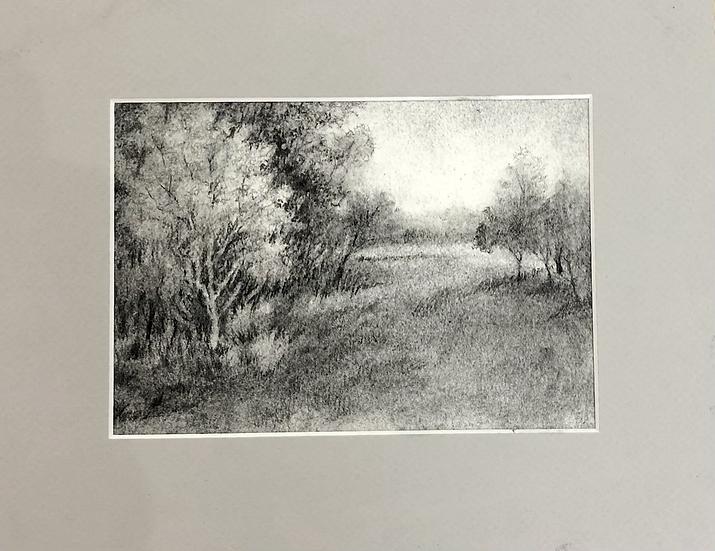 Pasture Passage , 5x7 in 8x10 mat