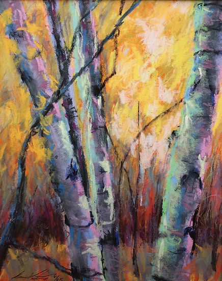 Birches 10x8 numbered print