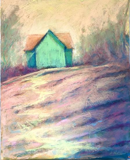 Gaskill Barn, pastel , 20x16