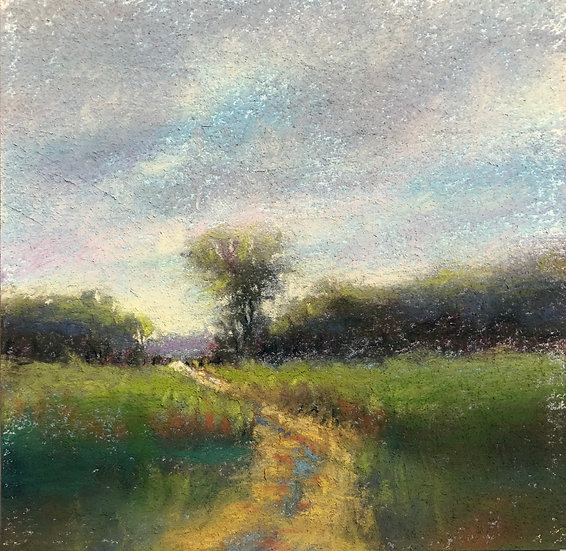 Country Road, 6x6 pastel study