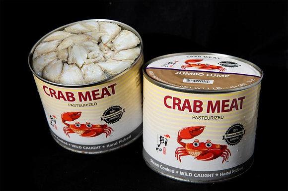 CRAB MEAT, JUMBO LUMP, 454GM/CAN