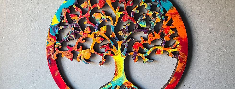 Tree of Life Wall Art - Rainbow
