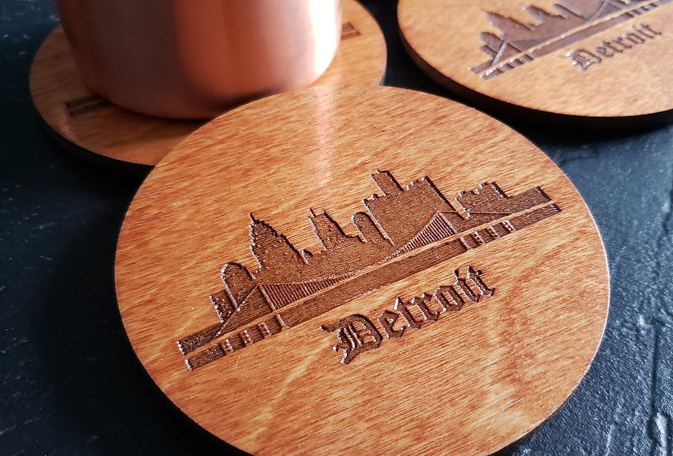 Detroit Skyline Coasters
