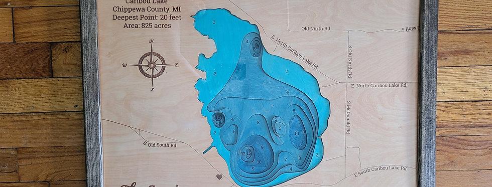 Caribou Lake Bathymetric Map